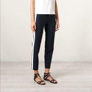 Vince Side Stripe Trouser Pants size 10 Navy